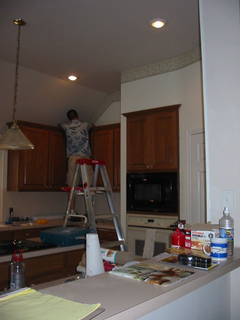 Dad working on the kitchen