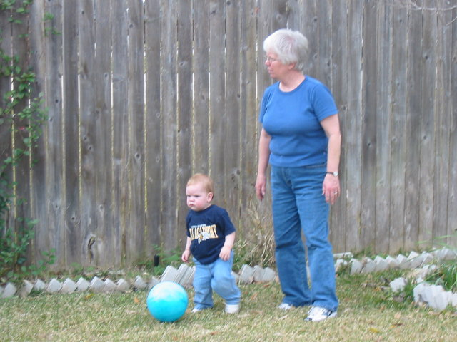 Playing ball with GrandLinda