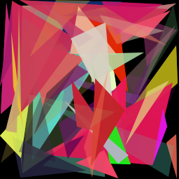 A bunch of colored polygons